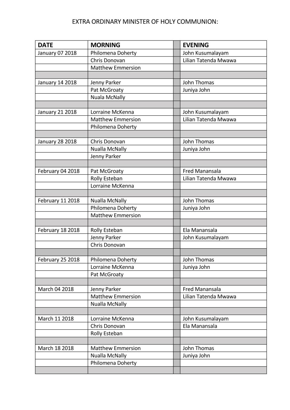 EUCHARISTIC MINISTERS ROTA. 180107_Page_1