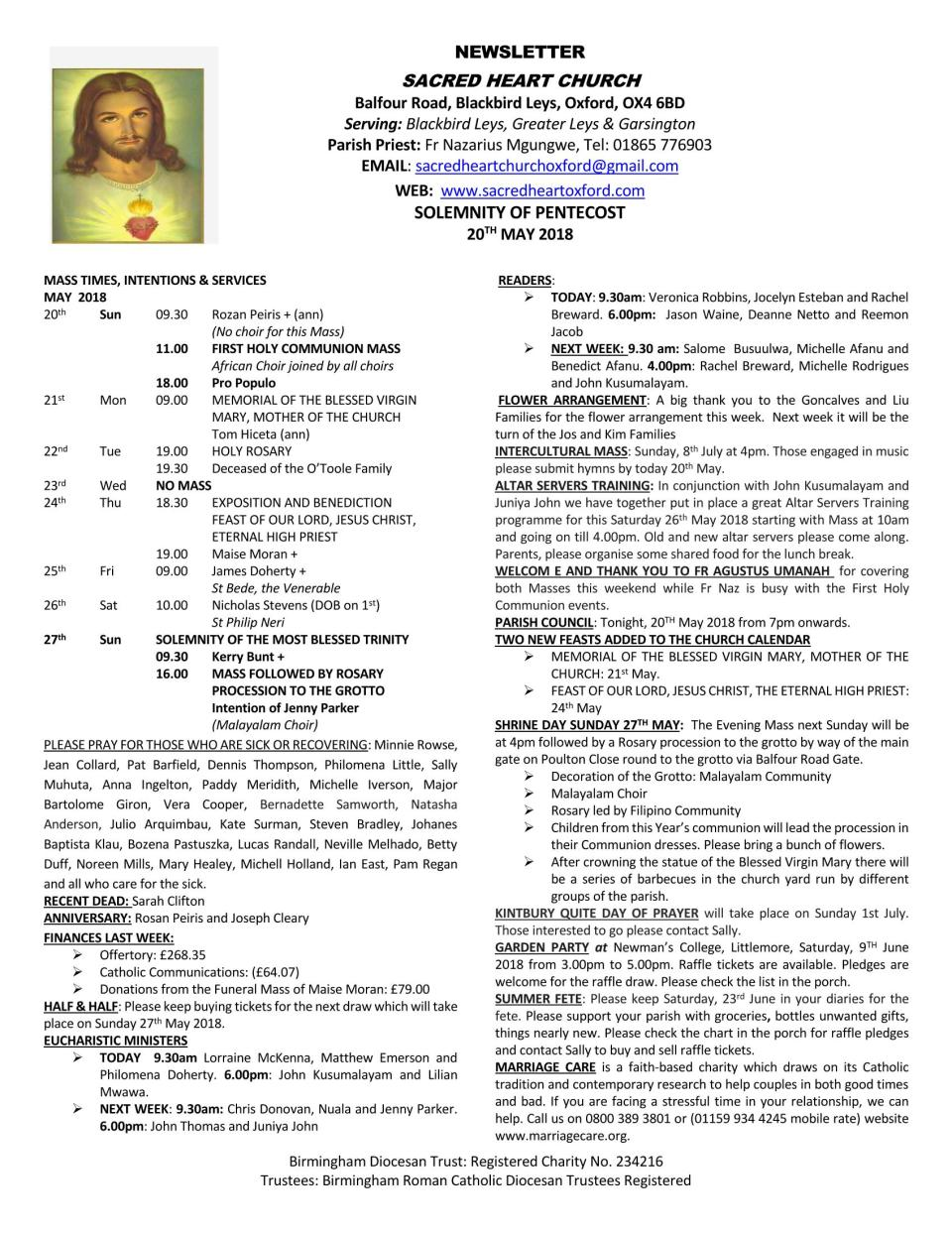 20th May, 2018 - Solemnity of Pentecost_Page_1