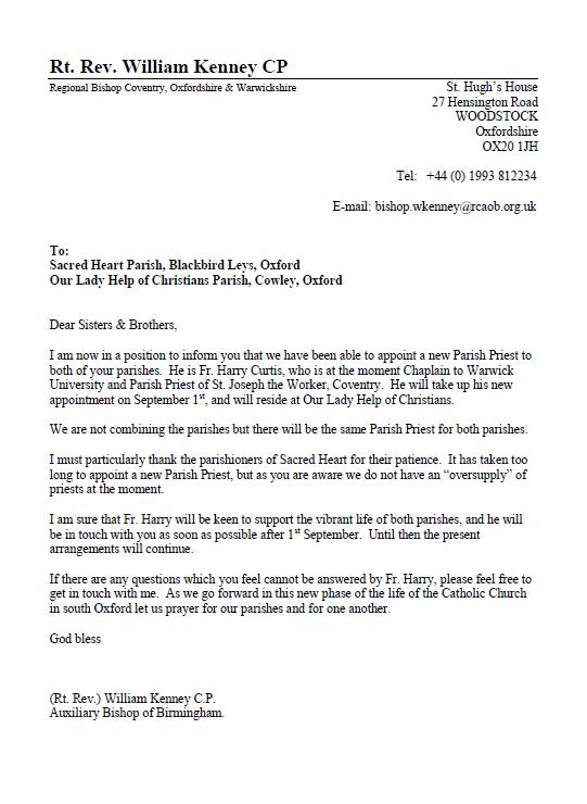 New Parish Priest_Announcement